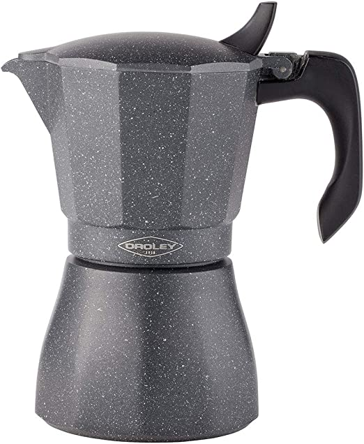 Oroley - Cafetera Italiana Petra | Base de Acero Inoxidable | 9 ...