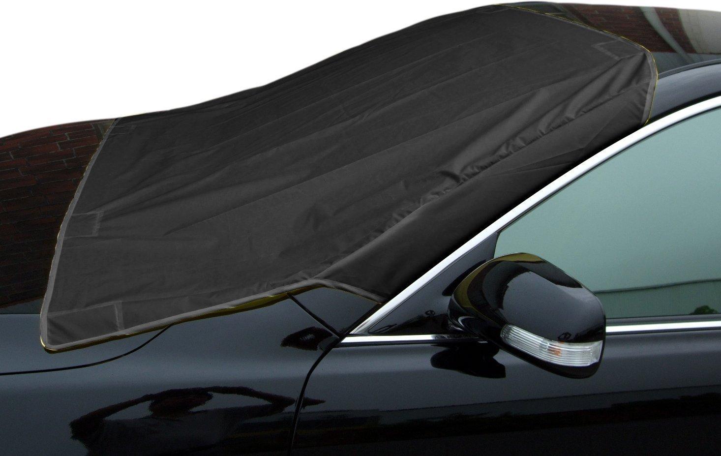 Amazon.es: Xcellent Global Anti de Frost universal Auto sol protección auto cubierta resistente al agua Parabrisas/Frente Frost & Invierno de Negro M ...