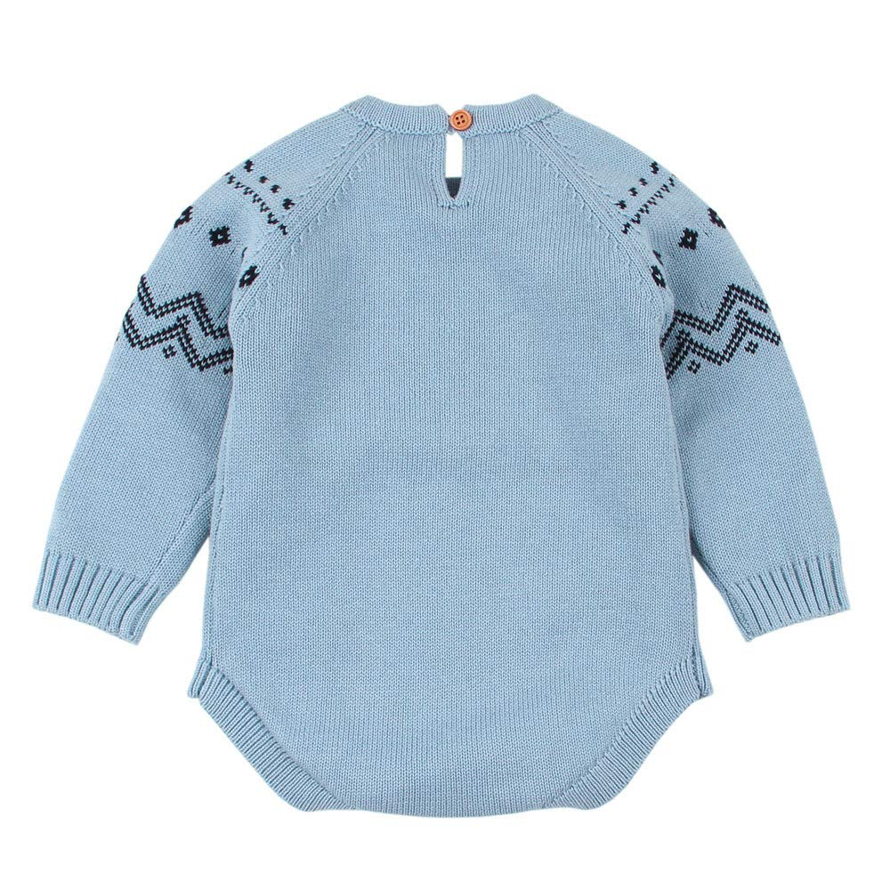 OutTop Baby Knitted Sweater Newborn Infant Fox Knit Romper Jumpsuit Homewear Outfits Clothes