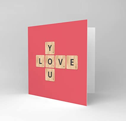 Amazon Wee Blue Coo New Love You Pink Scrabble Blank Greetings