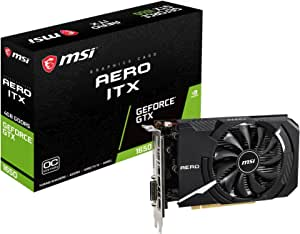 MSI Gaming GeForce GTX 1650 128-Bit HDMI/DP 4GB GDRR5 HDCP Support DirectX 12 Single Fan OC Graphics Card (GTX 1650 Aero ITX 4G OC)