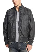INC International Concepts Bomber Jacket XX-Large Black Cotton With Coating