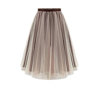 Summer Faldas Gauze Skirts Womens New European American Ladies Fashion Wild Tulle Skirt Clothing Vestidos LH0916