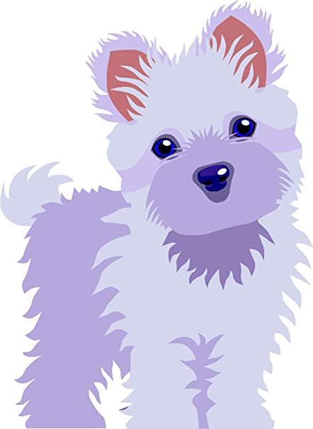 Amazon Com Maltese Puppy Dog Cute Fluffy Pet Animal Cartoon Vinyl Sticker 4 Tall Standing Forward Automotive