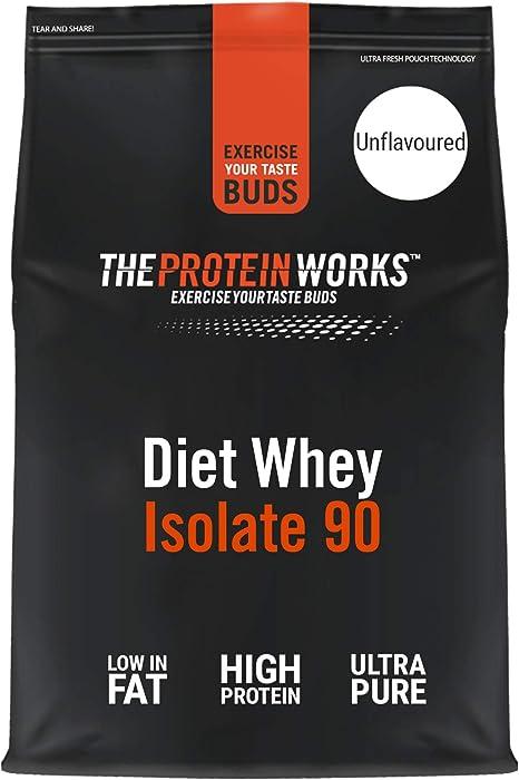 Proteína Whey Diet Isolate 90 | Sin sabor | 2 kg de Aislado de proteína Whey