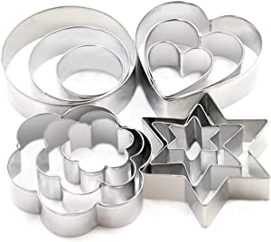 Cookie Cutters Set - Cookie Cutters Mini Geometric Shapes Cookie Cutters, Vegetable Shape Cutters for Kitchen, Baking, Halloween & Christmas,12 Pcs (white) (white)
