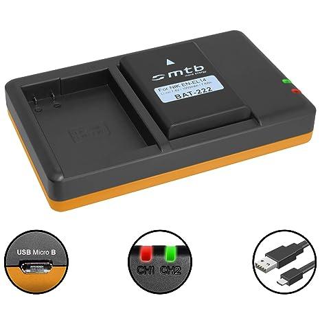Batería + Cargador Doble (USB) para Nikon EN-EL14(A) / Coolpix ...
