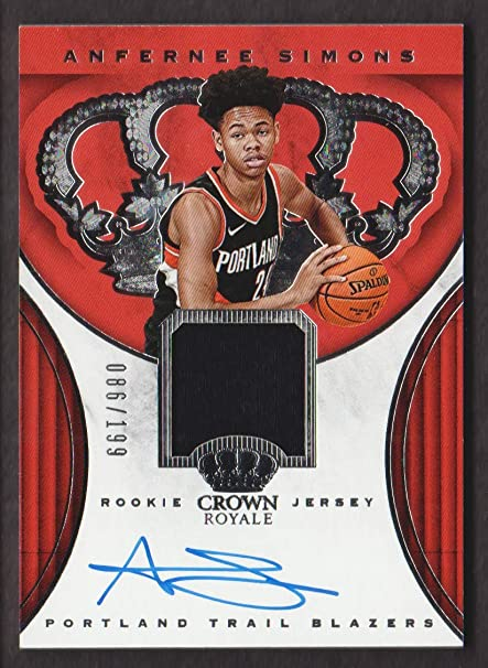 on sale 2be56 2a30d 2018-19 Crown Royale Basketball Rookie Jersey Auto #RJA-ASM ...