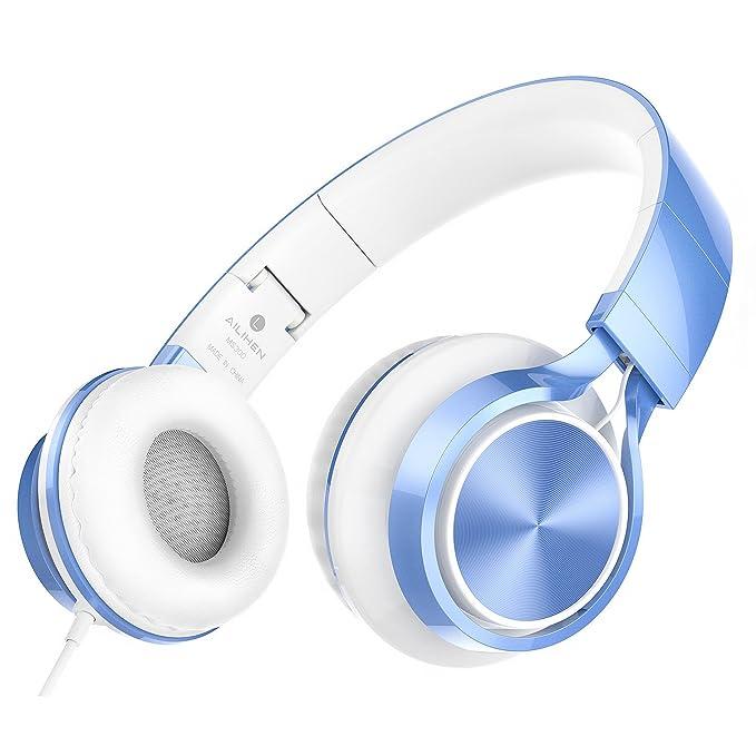 88b652c4d73 Amazon.com: AILIHEN MS300 Wired Headphones, Stereo Foldable Headset ...