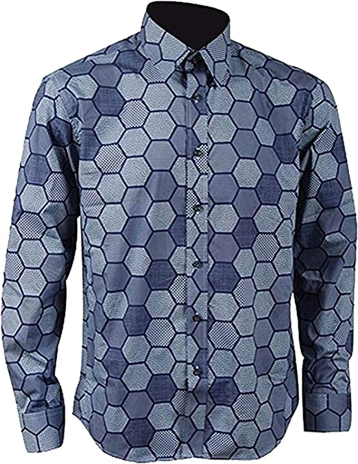Amazon.com: Hexagonal para camisa de hombre Knight Joker ...