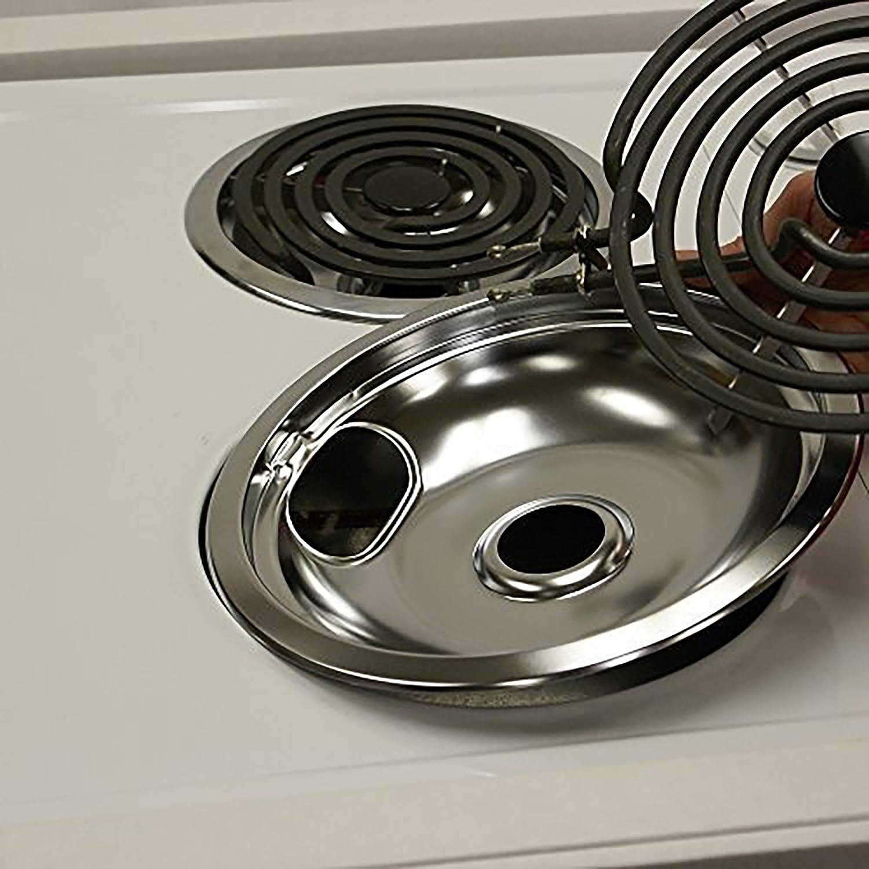 ClimaTek Stove 8 Chrome Drip Bowl Pan fits Westinghouse 304969 AP4829887 8004682
