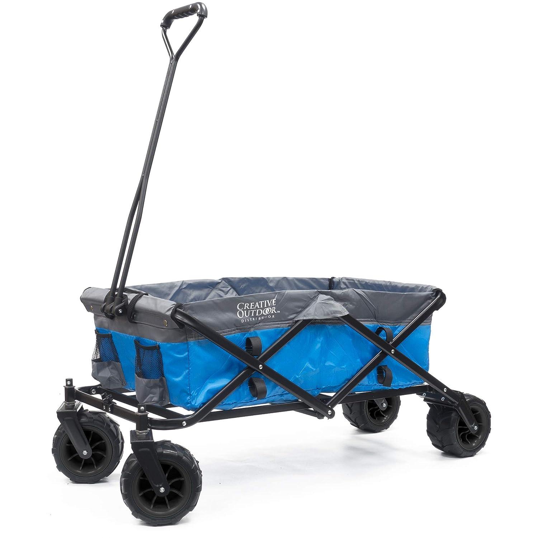 Creative Outdoor Distributor 900231-Blue Grey All Terrain Folding Wagon, Blue Grey