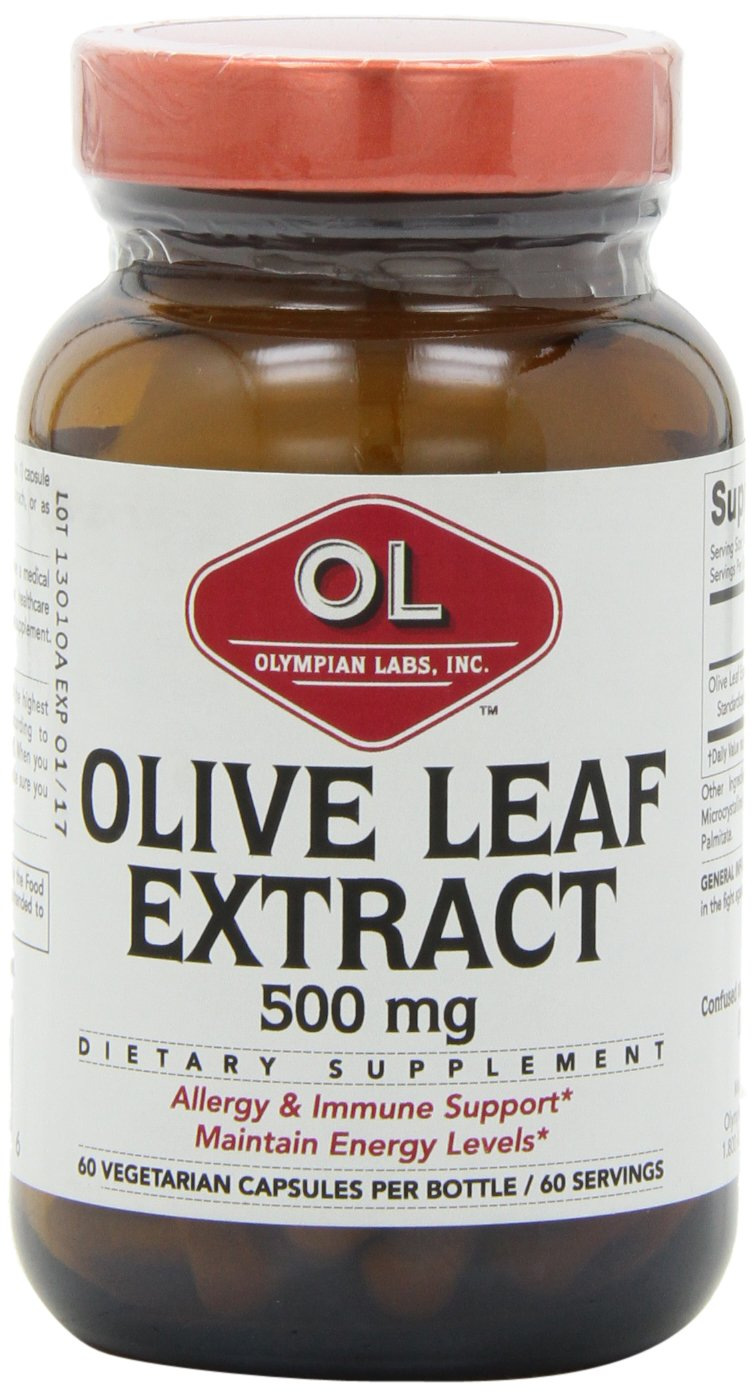 Olympian Labs Olive Leaf Extract, 500mg  60 Capsules  (Pack of 2)