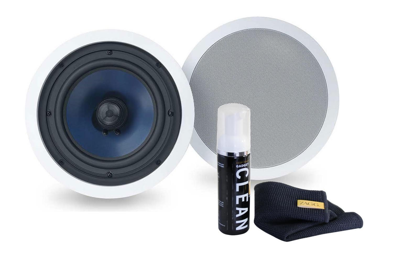 Polk Audio 2-Way In-Ceiling Speakers (RC80i (1 Pair) with Gadget Cleaner)