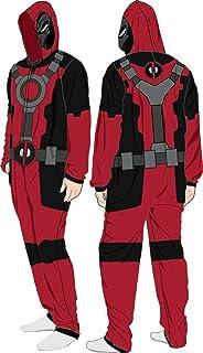 Marvel Deadpool (X-Men) Costume - Hooded Fleece One-Piece Union Pajamas