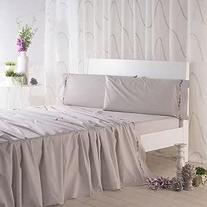 Sancarlos- Juego de sábanas bordadas DUNE, Algodón 100%, Color ...