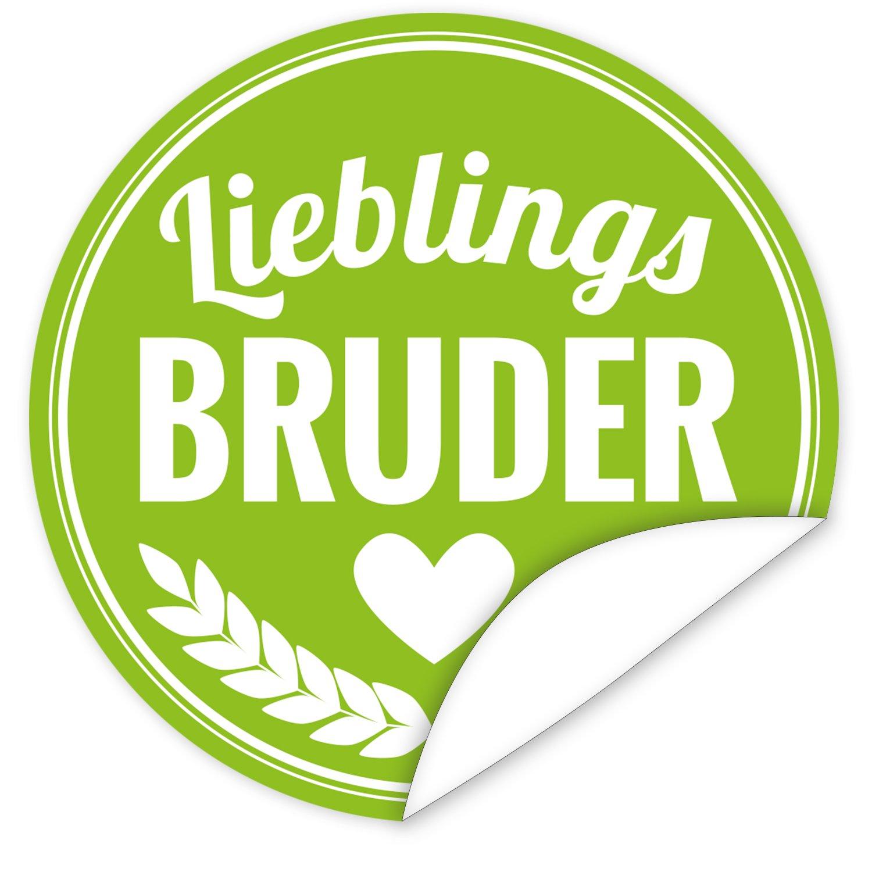 Lieblings-Bruder Aufkleber | 9,5cm groß | rund | inkl.Alles Gute ...