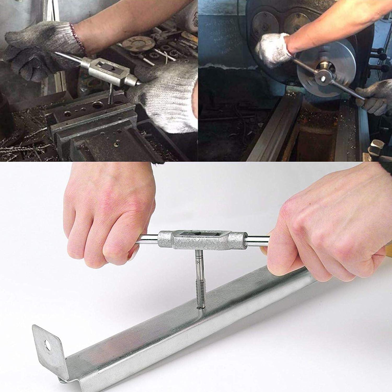 Juego de 40 brocas m/étricas con herramienta de acompa/ñamiento M3-M12 y 1//8 NPT-27 para taller de automoci/ón