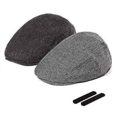 cef8046315 LADYBRO Men Newsboy Cap Ivy Hat - 30% Wool Cabbie Hats for Men Irish Tweed  Flat Cap