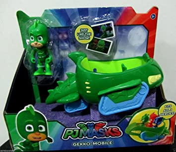 Pj Masks Gekko Mobile Vehicle and Figure New Cartoon Release (Green)