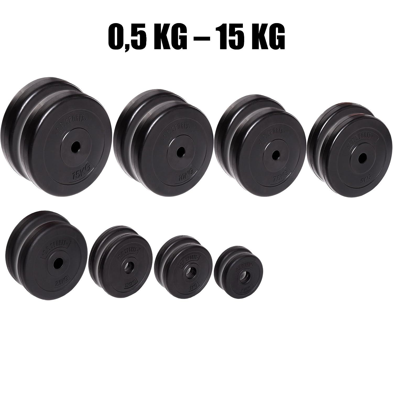 Par de discos de pesas C.P. Sports de entre 0,5 kg y 15 kg, con ...
