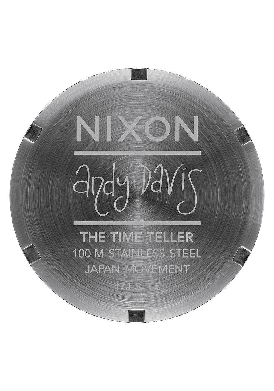 Nixon Men's Time Teller Watch, 37mm, Navy/Gunmetal, One Size