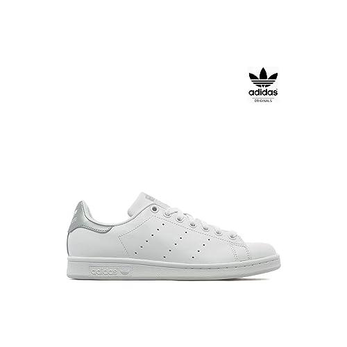 newest collection 6a426 873e2 adidas Originals - Zapatillas de Deporte de Otra Piel Mujer, Blanco  (Blanco), 40  Amazon.es  Zapatos y complementos
