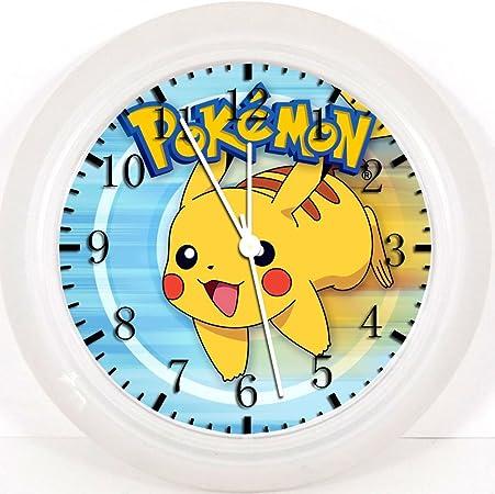 Horloge murale en plastique Pok/émon Pikachu