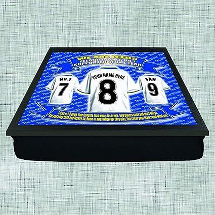Leeds United Football Shirt Personalised Lap Tray Gift