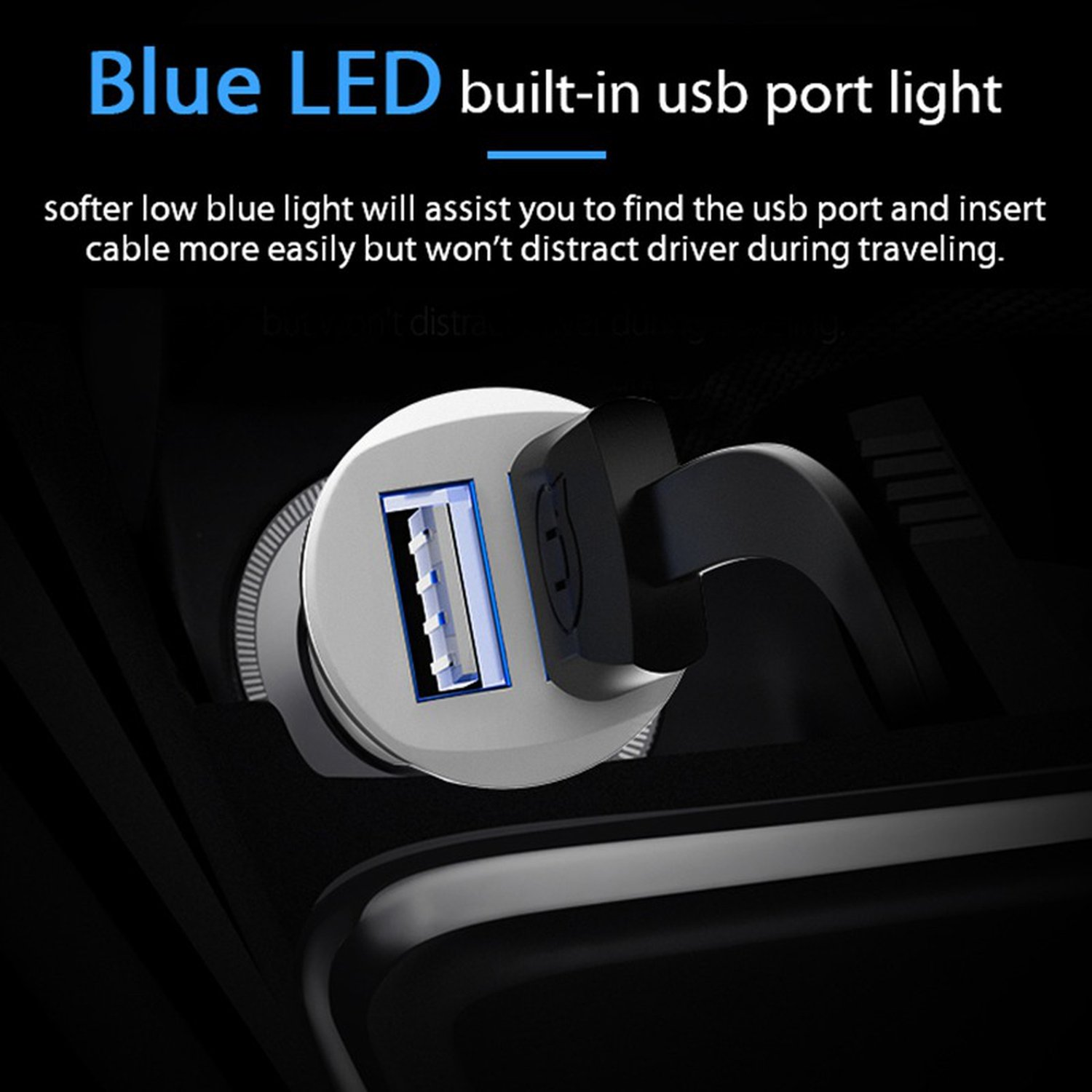 Amazon.com: Dual USB Car Charger 5V 2.4A For Mobile Phone ...