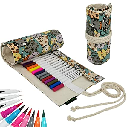 Amazon.com: Rotuladores de punta doble de 36 colores ...