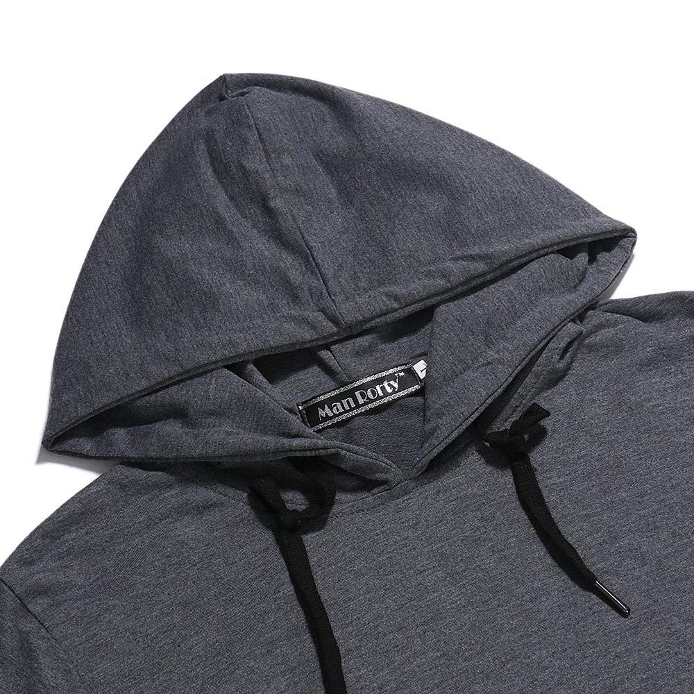 MORCHAN ❤ Automne Hiver Long Hommes Manches Zipper Patchwork Sweat /à Capuche Outwear Tops