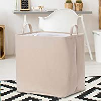 Rectangular Storage Bin,Canvas Fabric Storage Basket,Foldable Toy Storage Organizer,Waterproof Nursery Hamper for Kids…