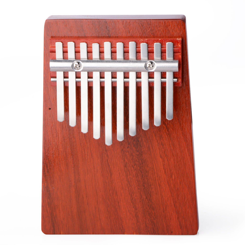 Thumb Piano, 10 Key Finger Piano Kalimba Mbira Thumb Piano for Music Lover and Beginner (Annatto Color) DOOLLAND