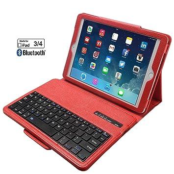 eoso - Funda para iPad 2/3/4, Teclado portátil con Funda de