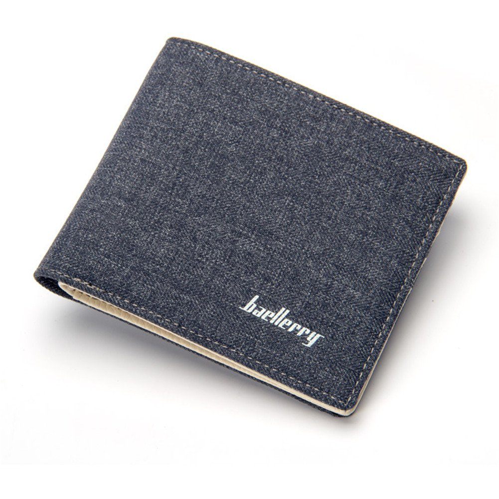 Cartera para hombre Estilo plegable Monedero Billetera de ...
