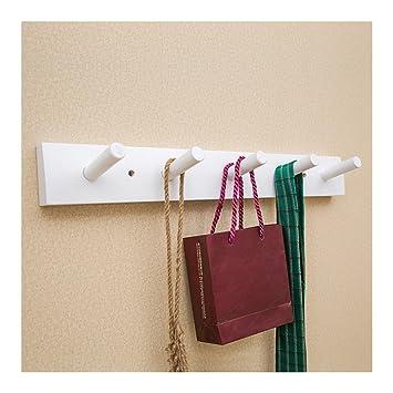 wall mounted clothes rail. Jiyaru Wooden Coat Rail Rack Hook Wall Mounted Clothes Hanger Hat Holder White H