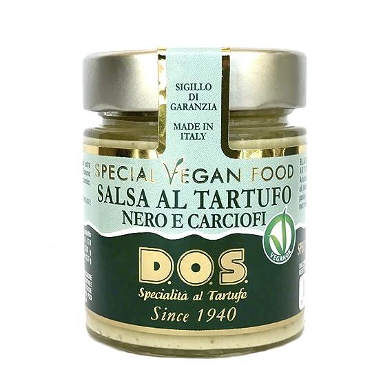 Salsa Vegan de Trufas Negras y Alcachofas 130g - Producción artesanal Italiana
