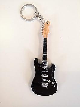Guitarra Llavero: David Gilmour negro Stratocaster: Amazon ...
