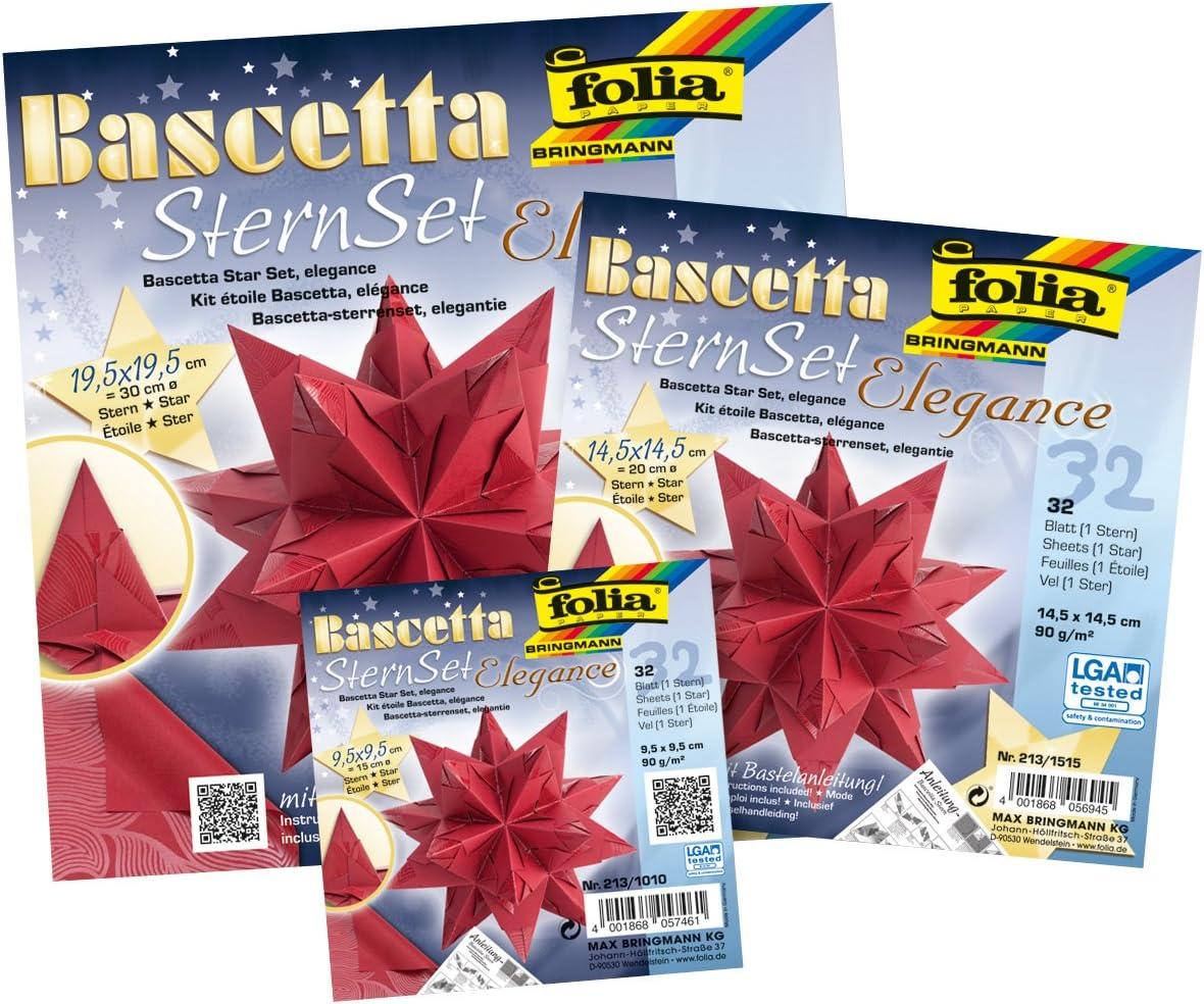 codice Articolo 836//3030 di Colore Blu Set per Stella Fai da Te Bascetta Idena Folia