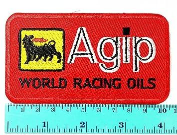 3 Parche Agip aceite coche motocicletas Racing Logo Biker chaqueta parche hierro Sew en gamuza de símbolo bordado insignia Sign: Amazon.es: Juguetes y ...