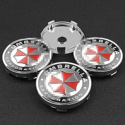 massage 4Pcs 60mm Umbrella Corporation Logo Coprimozzo Centrale Caps Mozzo Ruota Emblema Distintivo Copertura Antipolvere