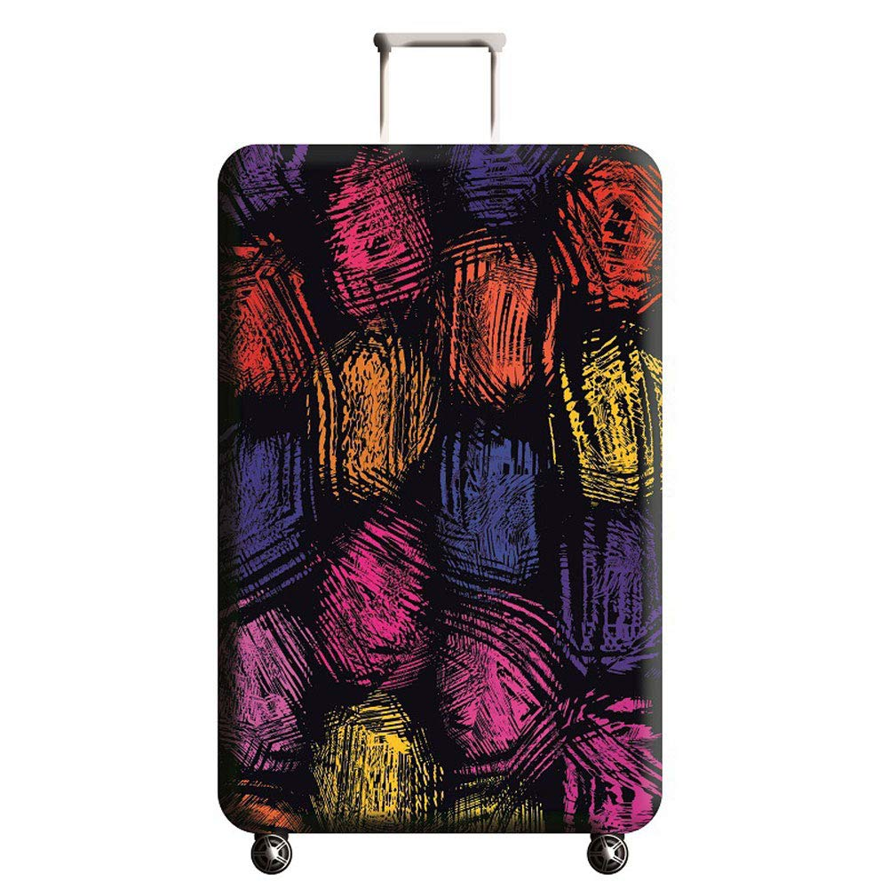 Hbwz 18-32 Inches Luggage Cover Elastic Suitcase Protective Cover Luggage Trolley Case Cover Protector,B,S