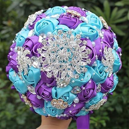 Amazon.com: Wedding bouquets for bride,Wedding Bride Holding Bouquet ...