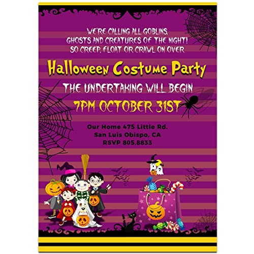 amazon com halloween kids party invitations handmade