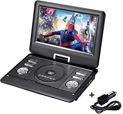 Dzsf Tragbarer Dvd Player Mit Tv Hochauflösenden Bildschirm Mit Drehung Von 270 Grad Und Mit Multi Angle Modus Anzeigen Sport Freizeit