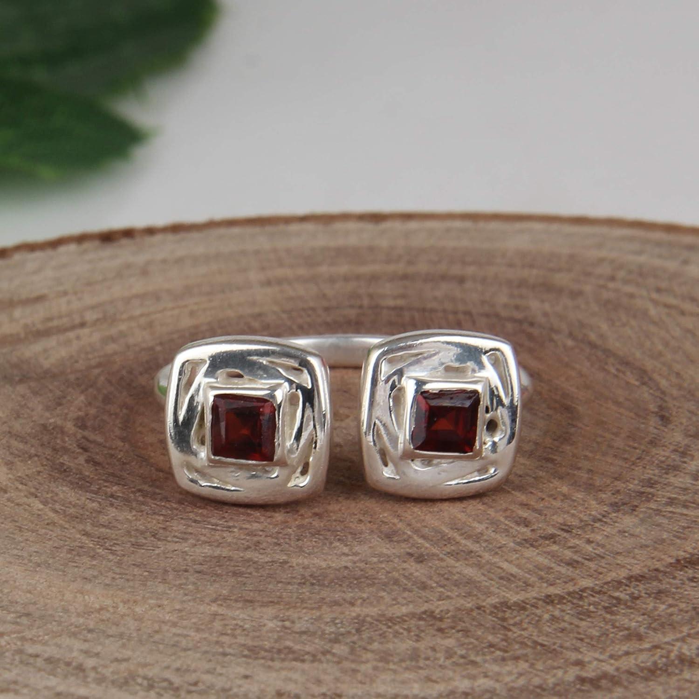 Herkimer Diamond Natural Gemstone 925 Solid Sterling Silver Handmade Adjustable Ring Authentic Moldavite Rough