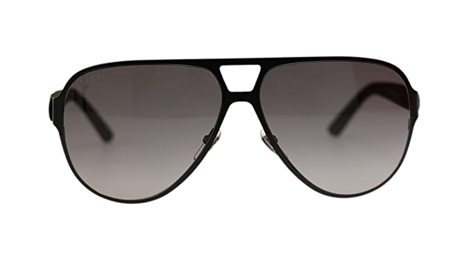 42d9b5a4786 Image Unavailable. Image not available for. Colour  Gucci Men s Sunglasses  GG2252 M7A Black Matte Grey Lens Aviator 62mm Authentic