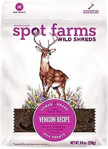 Spot Farms All Natural Wild Shreds Venison Recipe Dog Treats, 8 oz.