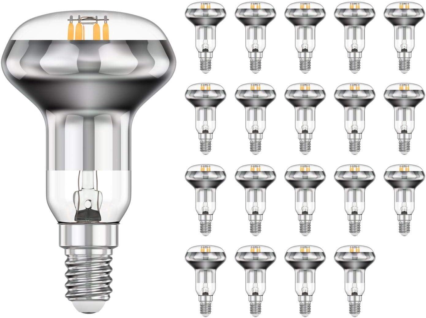 E14 LED Filament Reflektor-Spot R50 4W =35W 380lm 110° warm-weiß A++ 5 Stk.
